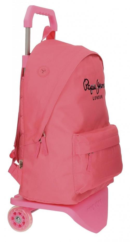 Pack Mochila Carro Pepe Jeans + Portatodo 66823M7-2 lateral