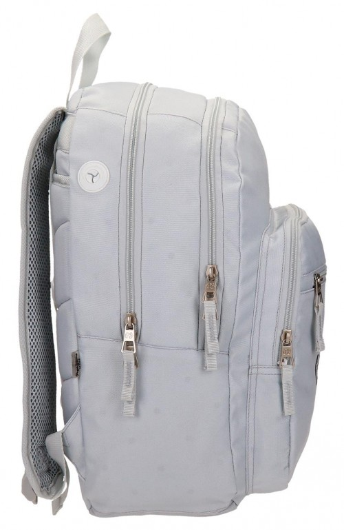 Mochila Doble Pepe Jeans Harlow Gris 66824A0  lateral