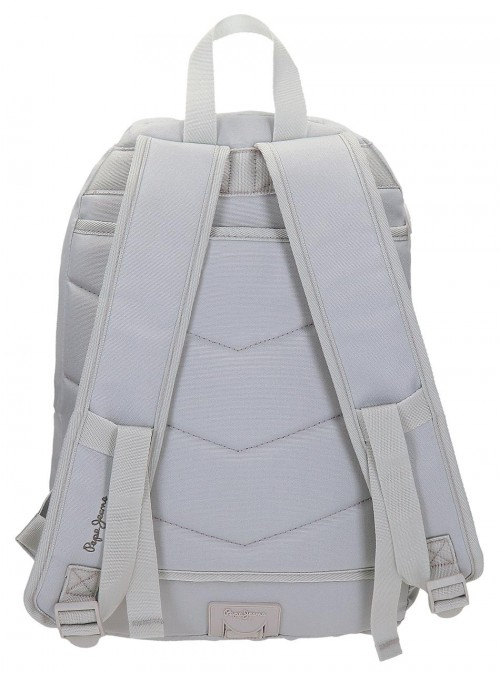 Mochila Doble Pepe Jeans Harlow Gris 66824A0 trasera