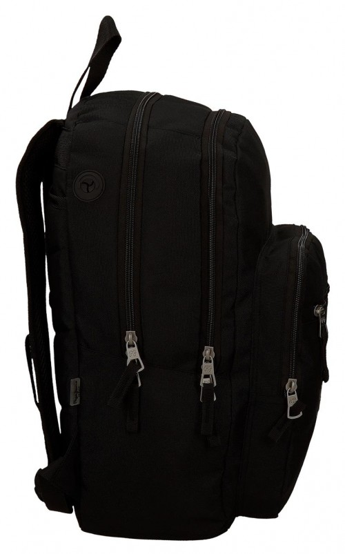Mochila Doble Pepe Jeans Harlow Negra 66824A1 lateral