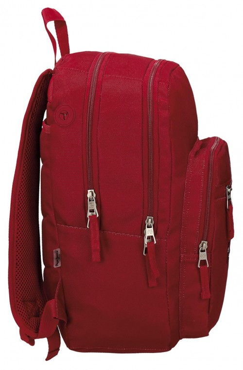 Mochila Doble Pepe Jeans Harlow roja 66824A5 lateral