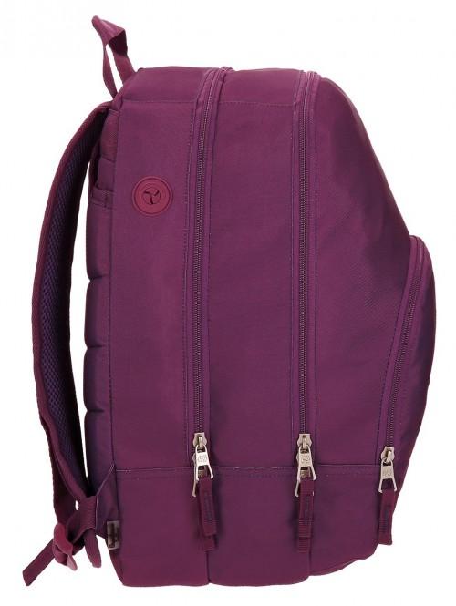 Mochila Doble Pepe Jeans Harlow violeta 66824A6 lateral
