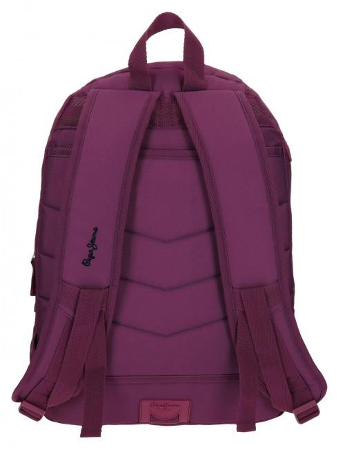 Mochila Doble Pepe Jeans Harlow violeta 66824A6 trasera