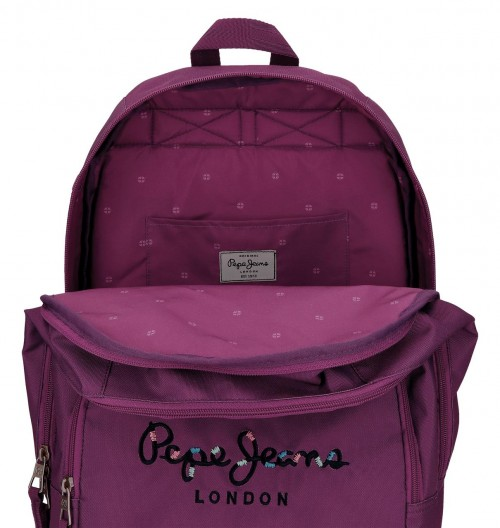 Mochila Doble Pepe Jeans Harlow violeta 66824A6 interior