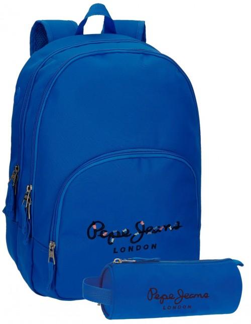 Mochila Doble Pepe Jeans Harlow azul 66824A9