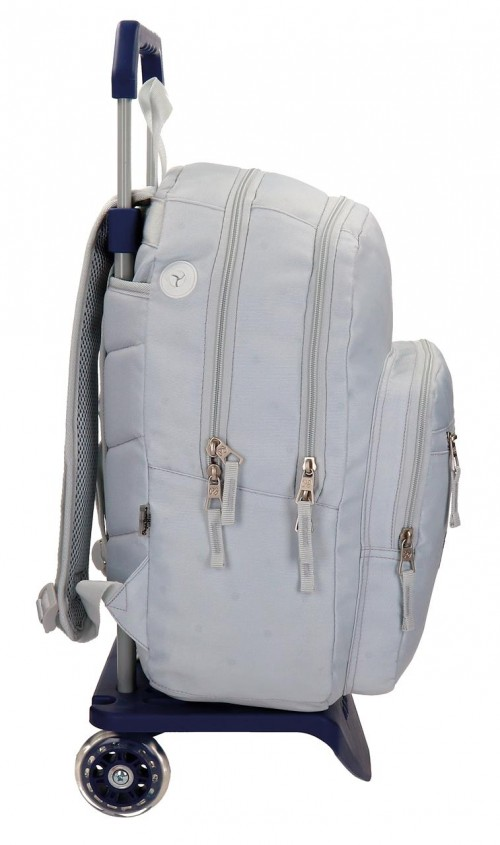 Mochila Carro Doble Pepe Jeans Harlow Gris 66824M0 lateral