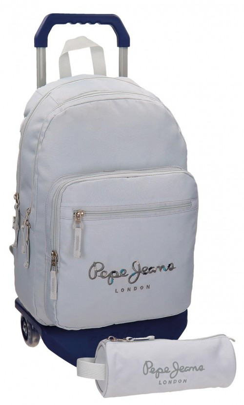 Mochila Carro Doble Pepe Jeans Harlow Gris66824M0