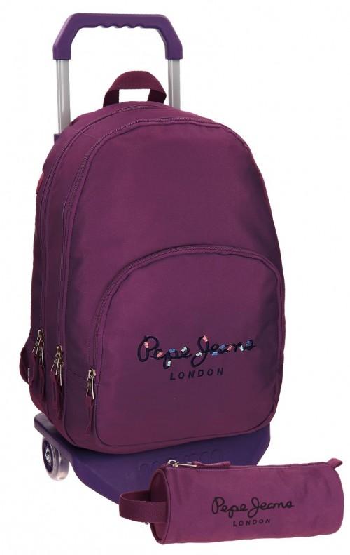 Mochila Carro Doble Pepe Jeans Harlow violeta 66824M6