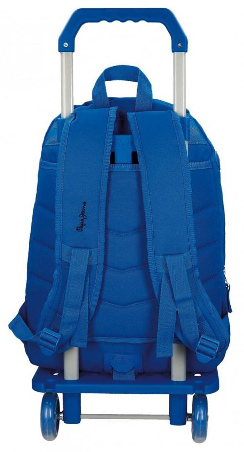 Mochila Carro Doble Pepe Jeans Harlow azul 66824M9 trasera