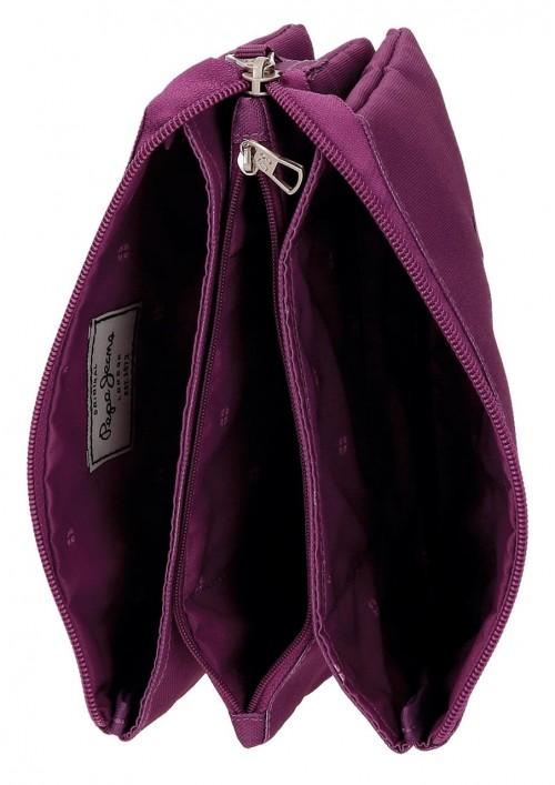 Portatodo Triple Pepe Jeans Harlow Violeta 6684356 interior