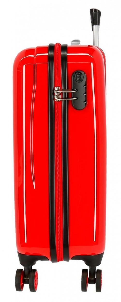 2041722 maleta infantil lightning mcqueen rojo lateral