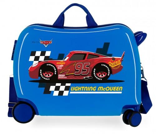 2049821 maleta infantil correpasillos lightning mcqueen azul