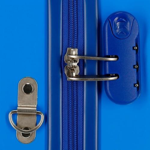 2049821 maleta infantil correpasillos lightning mcqueen azul  cerradura combinación