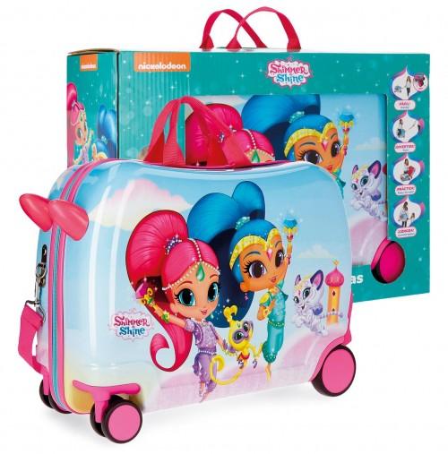 22798C1 maleta infantil  4 ruedas shimmer & shine twinsies con caja