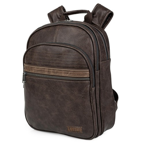 30533602  Mochila mediana 36 cm portaordenador lois granite marrón