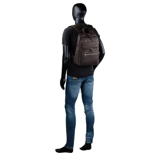 30593602 mochila piel mediana portaordenador lois OSBORN marrón