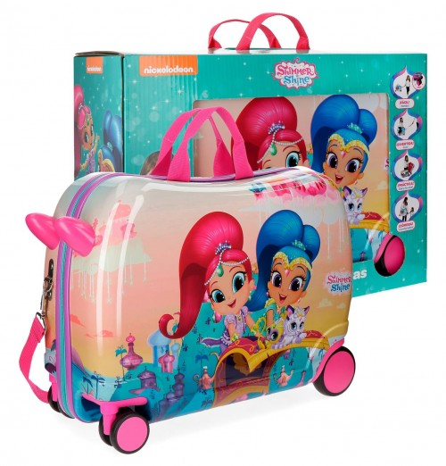 43598C1 maleta infantil 4 ruedas shimer &shine shiny con caja