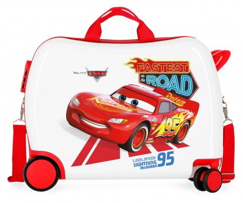 4649863 maleta infantil 50 cm good mood cars ruedas delanteras redireccionables