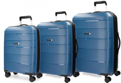 5289462 set trolley cabina mediano y grande movom wind azul