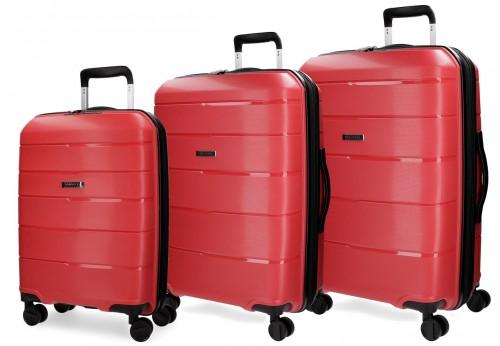 5289465  set trolley cabina mediano y grande movom wind  rojo