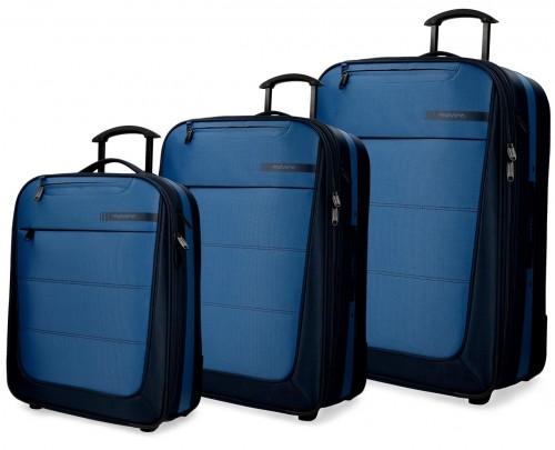 5339462 set trolley cabina mediano y grande movom detroid azul