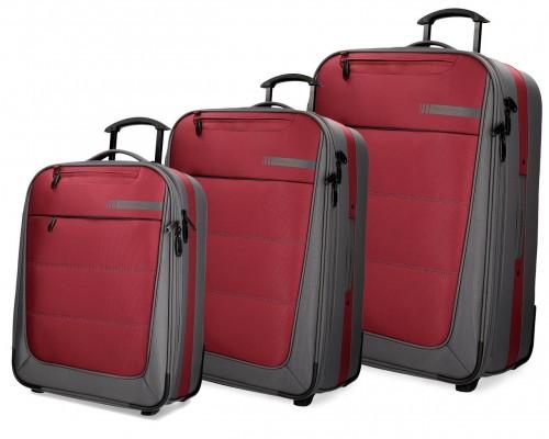 5339463  set trolley cabina mediano y grande movom detroid rojo