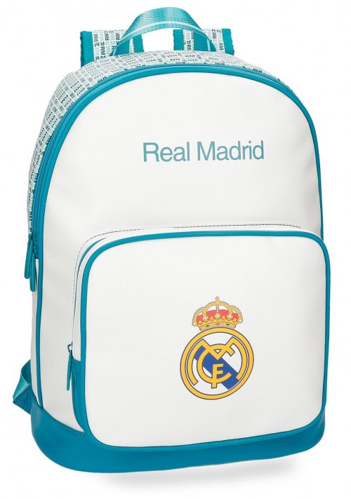 5372361 Mochila del Real Madrid para portatil  adaptable a trolley turquesa