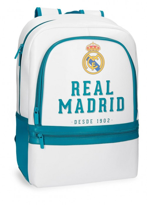 5382361 mochila real madrid adaptable portaordenador azul