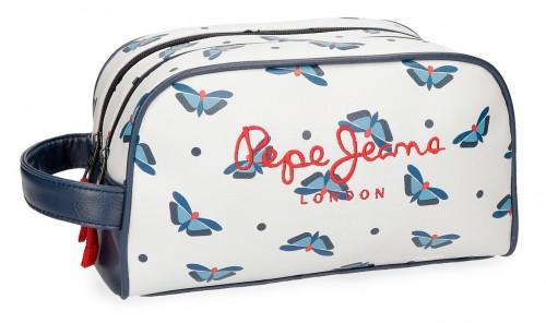 6164461 neceser adaptable 2 compartimentos pepe jeans feli