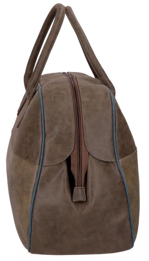 6353561 bolsa de viaje 50 cm pepe jeans max marrón  lateral