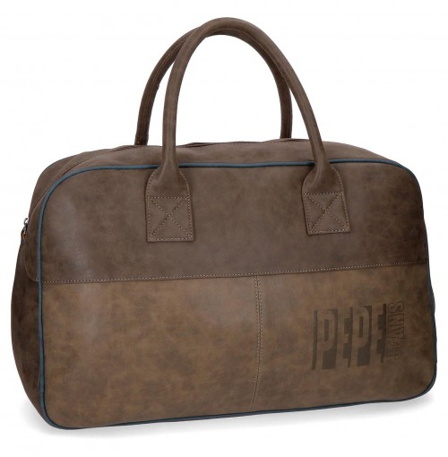 6353561 bolsa de viaje 50 cm pepe jeans max marrón