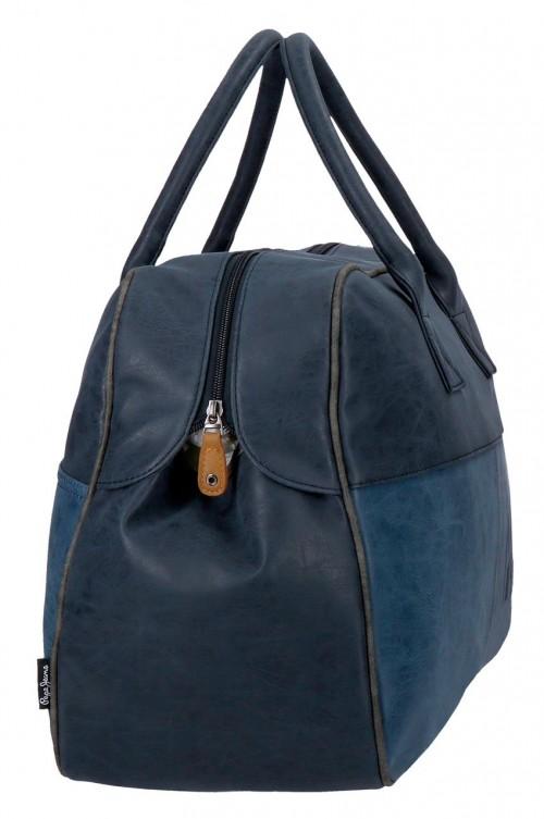 6353562 bolsa de viaje 50 cm pepe jeans max azul lateral