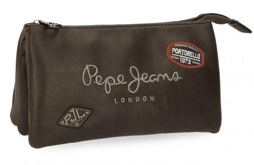 6674352 portatodo tripe pepe jeans duetone marrón