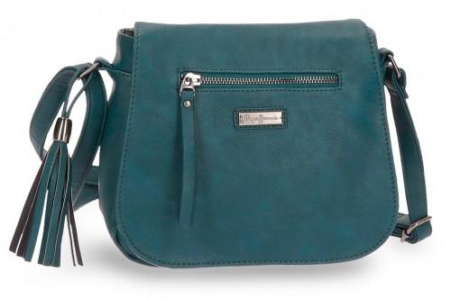 7025566 bolso bandolera pepe jeans croc  verde