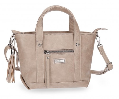 7025662 bolso pepe jeans croc camel