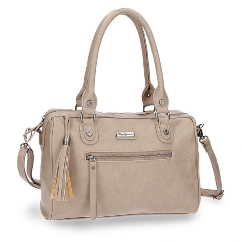 7027162 bolso pepe jeans croc camel