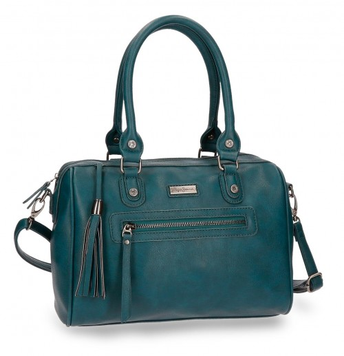 7027166 bolso pepe jeans croc verde