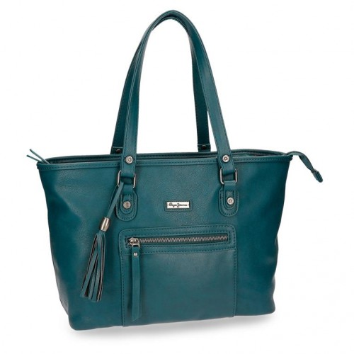 7027566 bolso pepe jeans croc verde