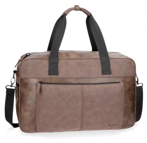 7383562 bolsa de viaje 50 cm pepe jeans cranford marrón