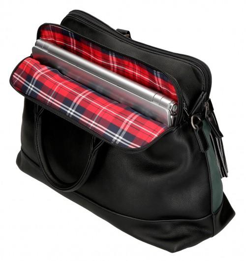 7716361 bolso portaordenador pepe jeans duane negro