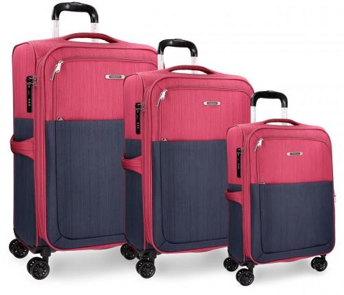 5349462 Set de maletas Movom colección Tucson Fucsia