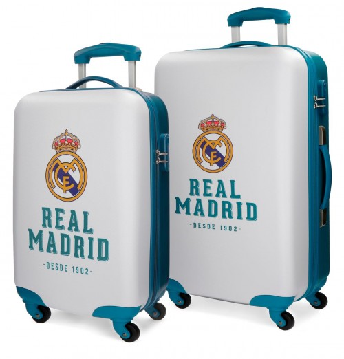 5381661 juego maletas cabina y mediana real madrid gol azul