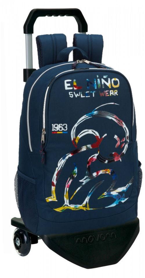 611832313 Mochila grande con carro  El Niño colección Splash
