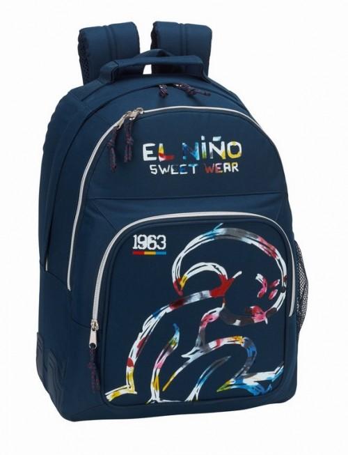 611832773 Mochila El Niño doble Compartimento Splash con refuerzo lateral