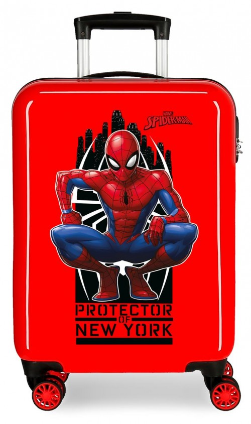 2411762 maleta cabina 4 ruedas spiderman geo rojo