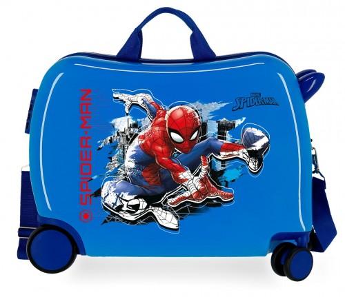 2419863 maleta infantil correpasillos spiderman geo azul