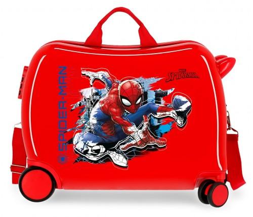 2419864 maleta infantil correpasillos spiderman geo rojo