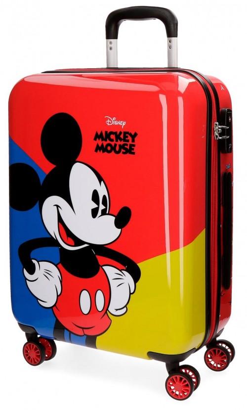3288761 Maleta de cabina 4 ruedas mickey red