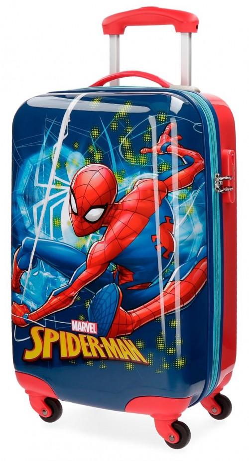 4311461 Maleta cabina 4 ruedas spiderman neo