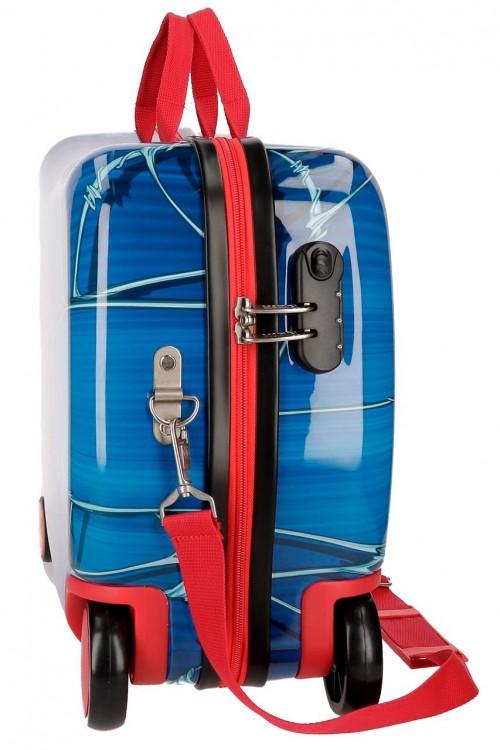 4589861 maleta infantil correpasillos spiderman black lateral
